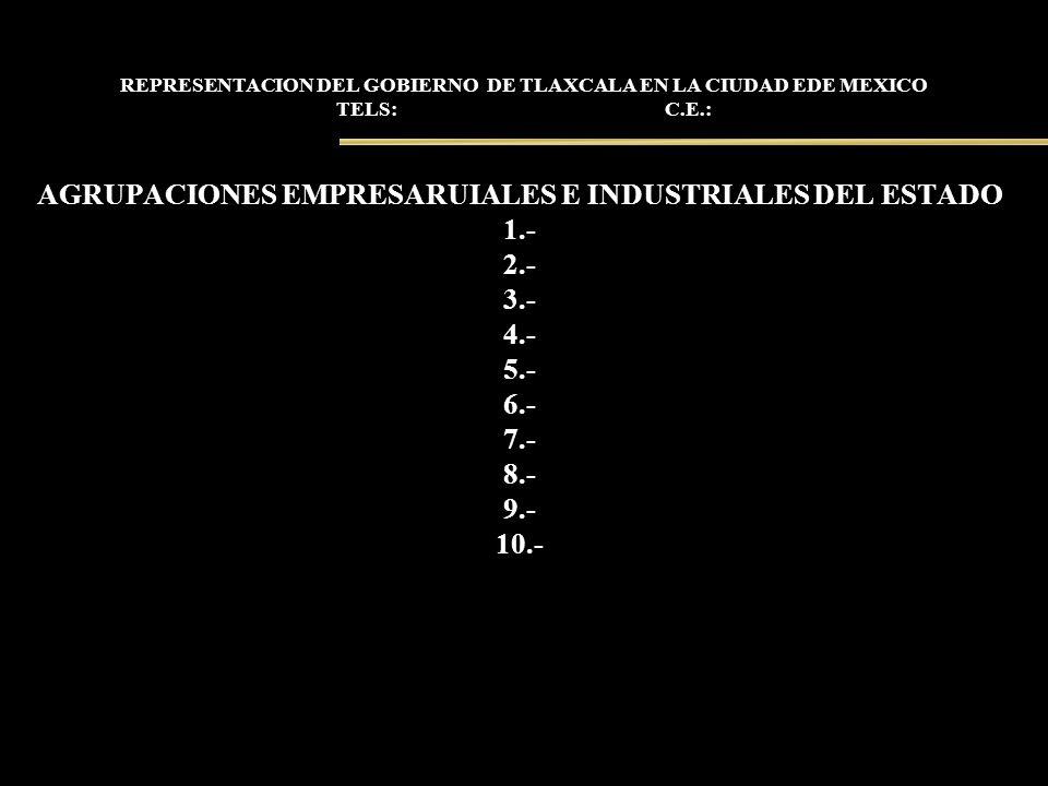 AGRUPACIONES EMPRESARUIALES E INDUSTRIALES DEL ESTADO
