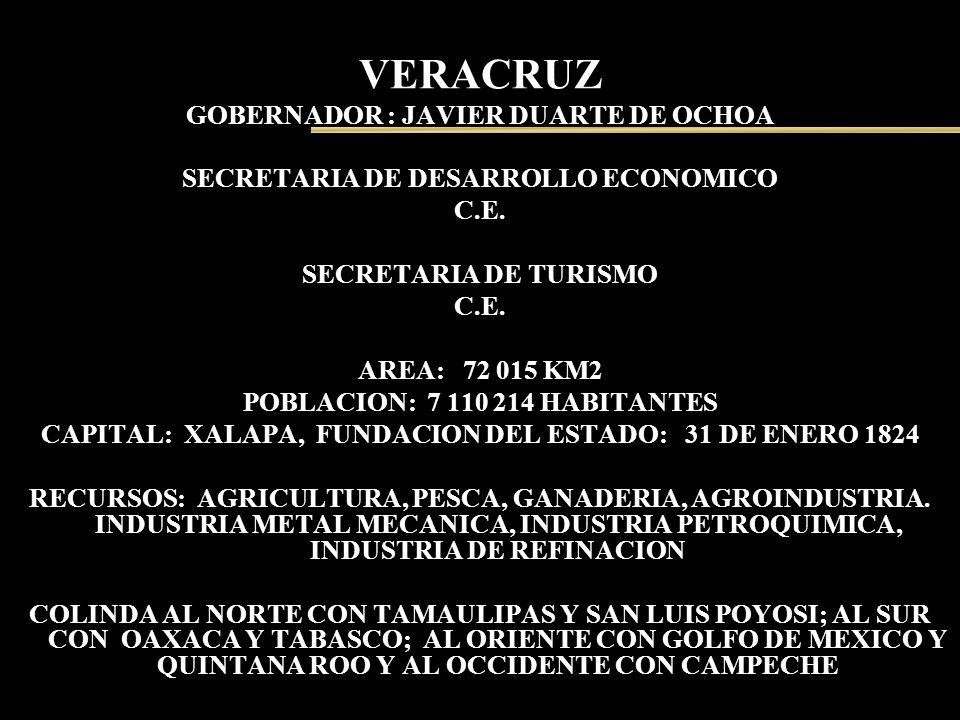 VERACRUZ GOBERNADOR : JAVIER DUARTE DE OCHOA
