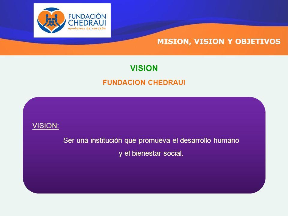 Ser una institución que promueva el desarrollo humano