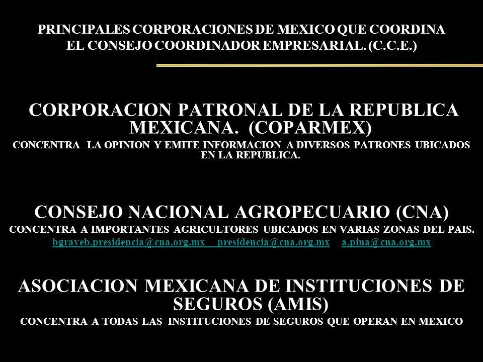 CORPORACION PATRONAL DE LA REPUBLICA MEXICANA. (COPARMEX)
