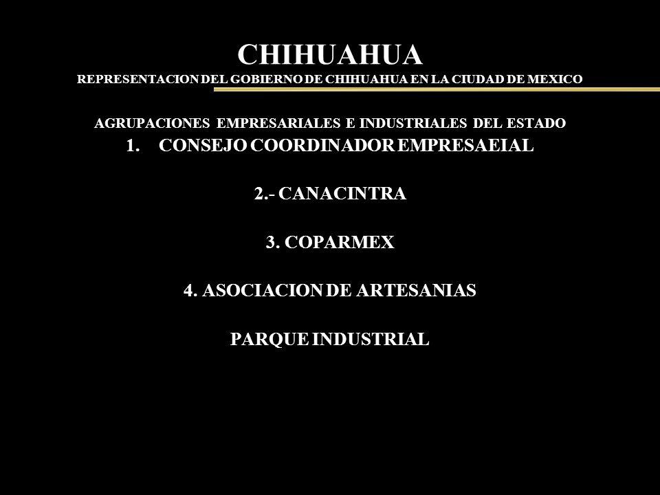 CHIHUAHUA REPRESENTACION DEL GOBIERNO DE CHIHUAHUA EN LA CIUDAD DE MEXICO