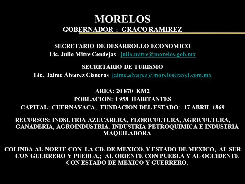 MORELOS GOBERNADOR : GRACO RAMIREZ