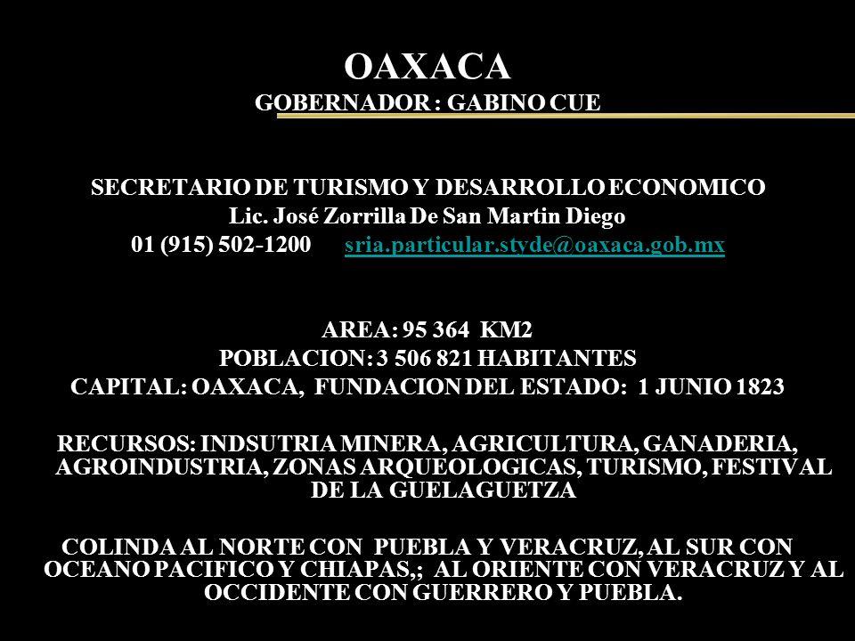 OAXACA GOBERNADOR : GABINO CUE
