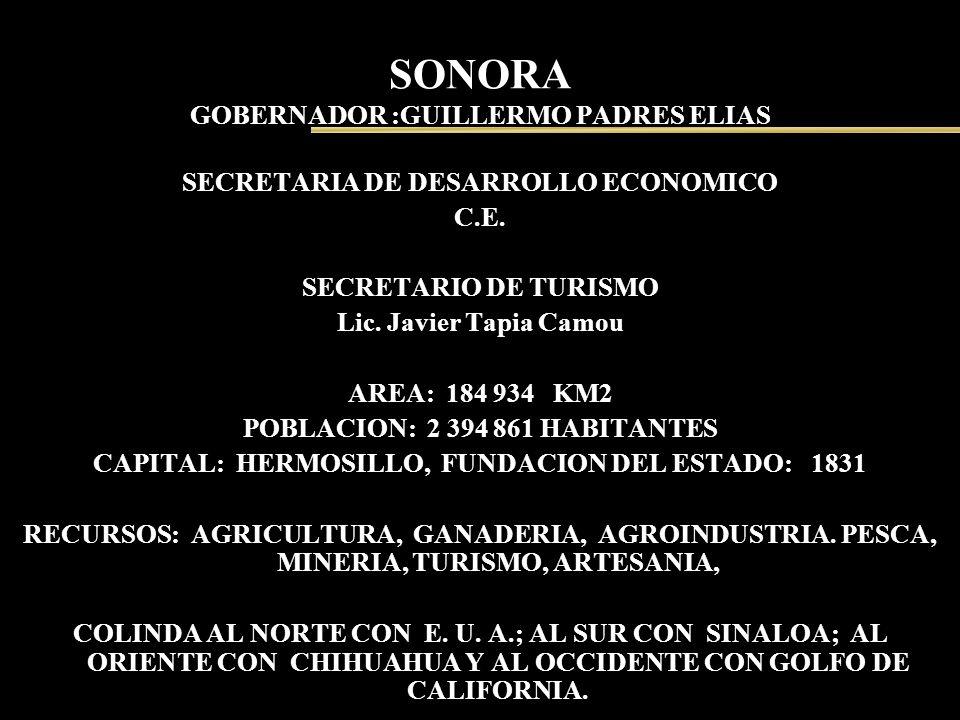 SONORA GOBERNADOR :GUILLERMO PADRES ELIAS