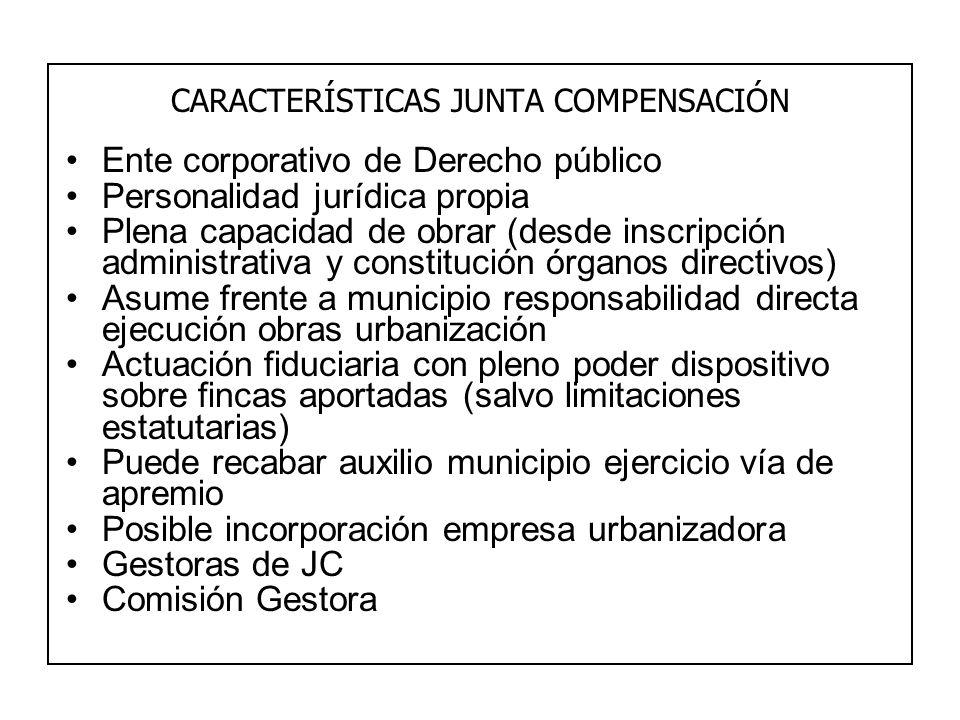 CARACTERÍSTICAS JUNTA COMPENSACIÓN