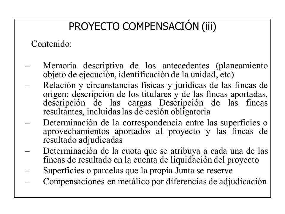 PROYECTO COMPENSACIÓN (iii)