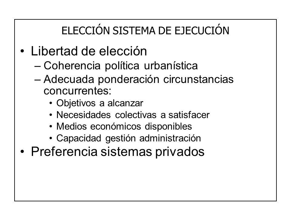 ELECCIÓN SISTEMA DE EJECUCIÓN