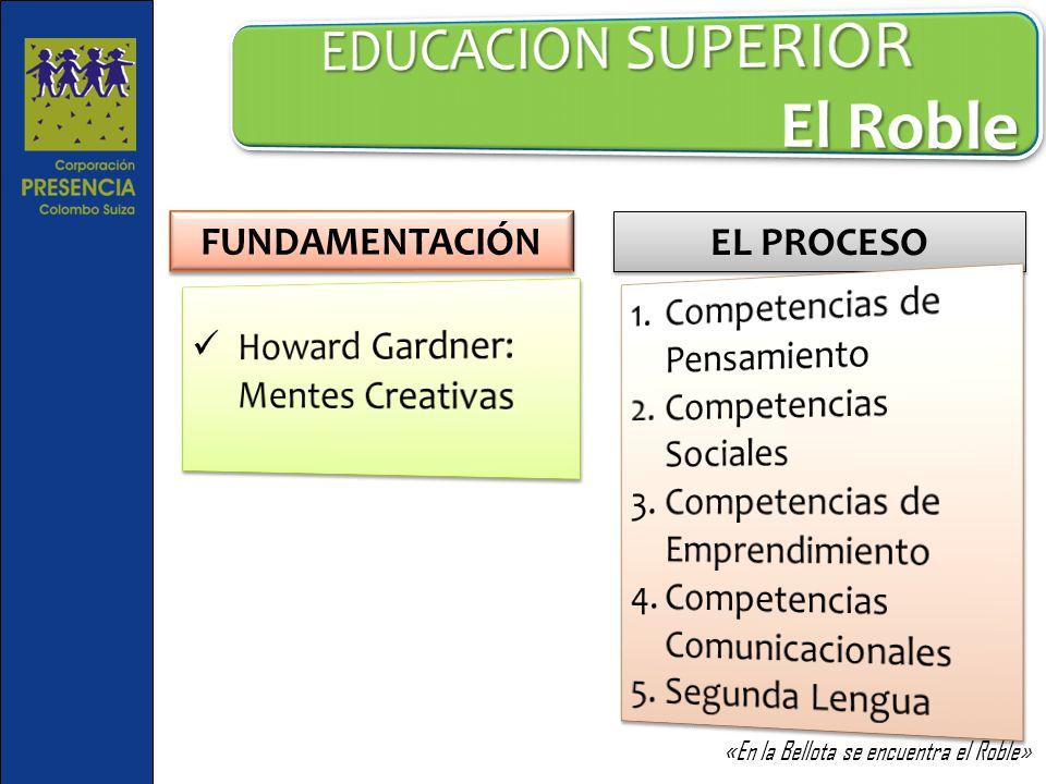 EDUCACION SUPERIOR El Roble FUNDAMENTACIÓN EL PROCESO