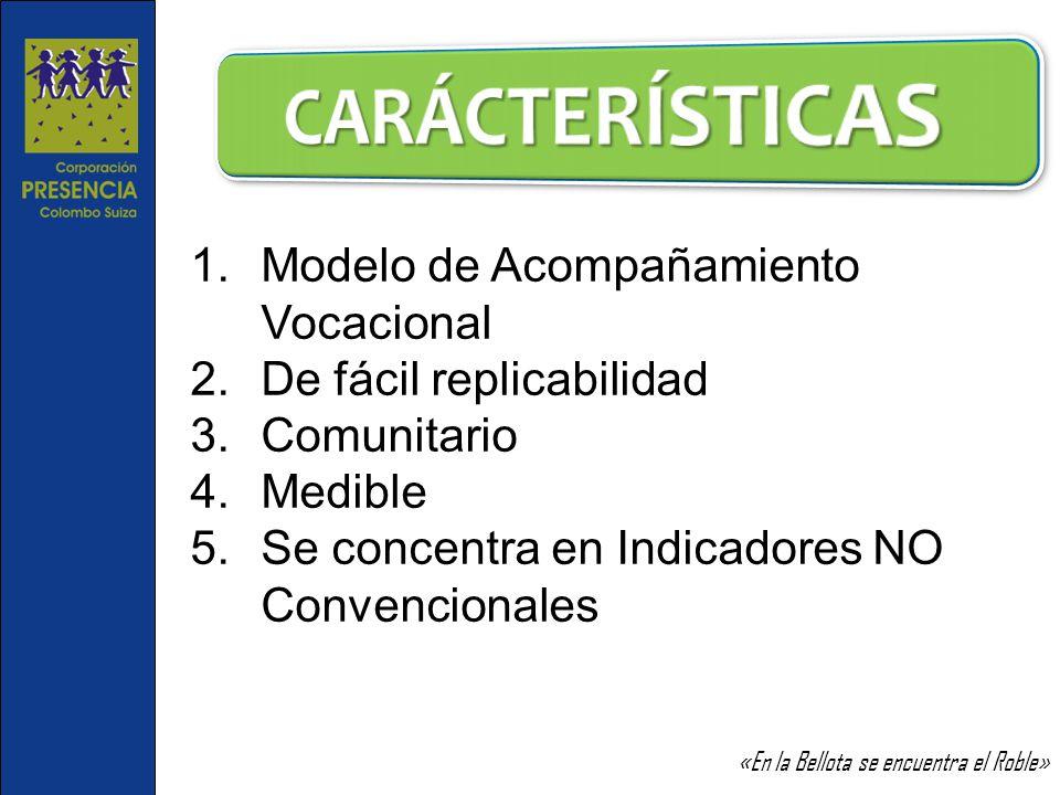 CARÁCTERÍSTICAS Modelo de Acompañamiento Vocacional