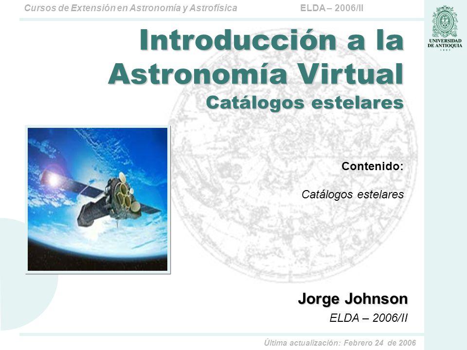Introducción a la Astronomía Virtual