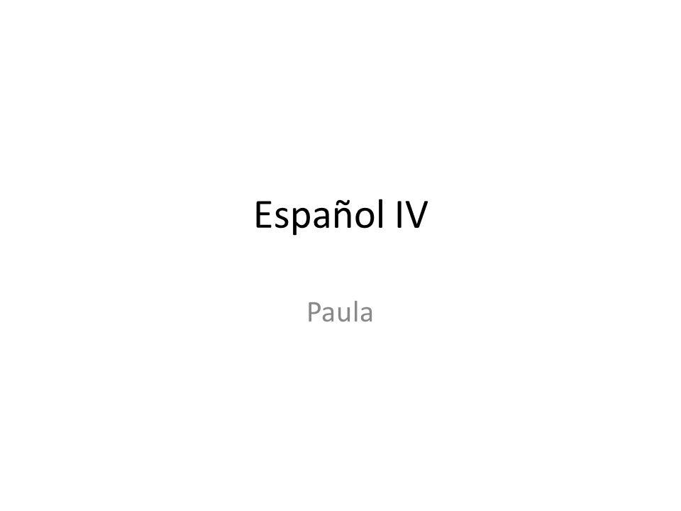 Español IV Paula