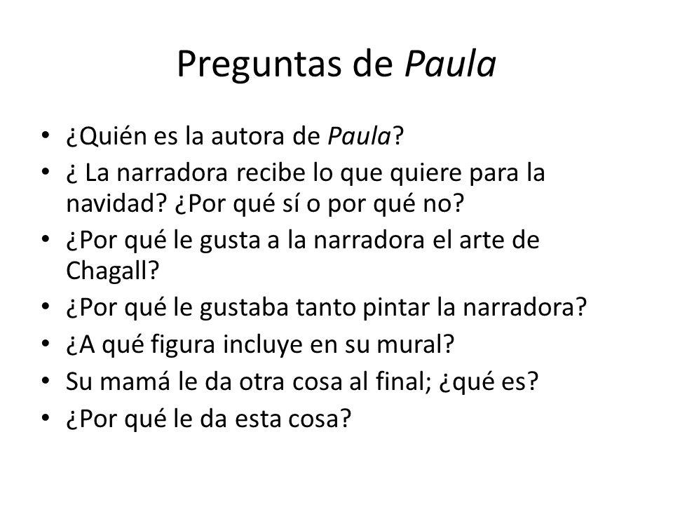 Preguntas de Paula ¿Quién es la autora de Paula