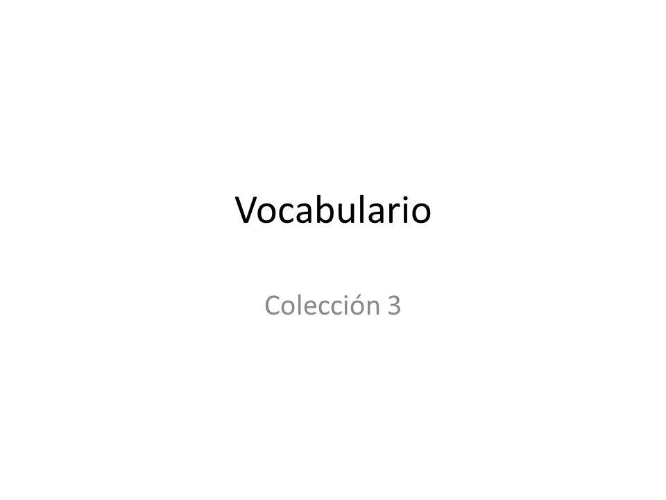 Vocabulario Colección 3