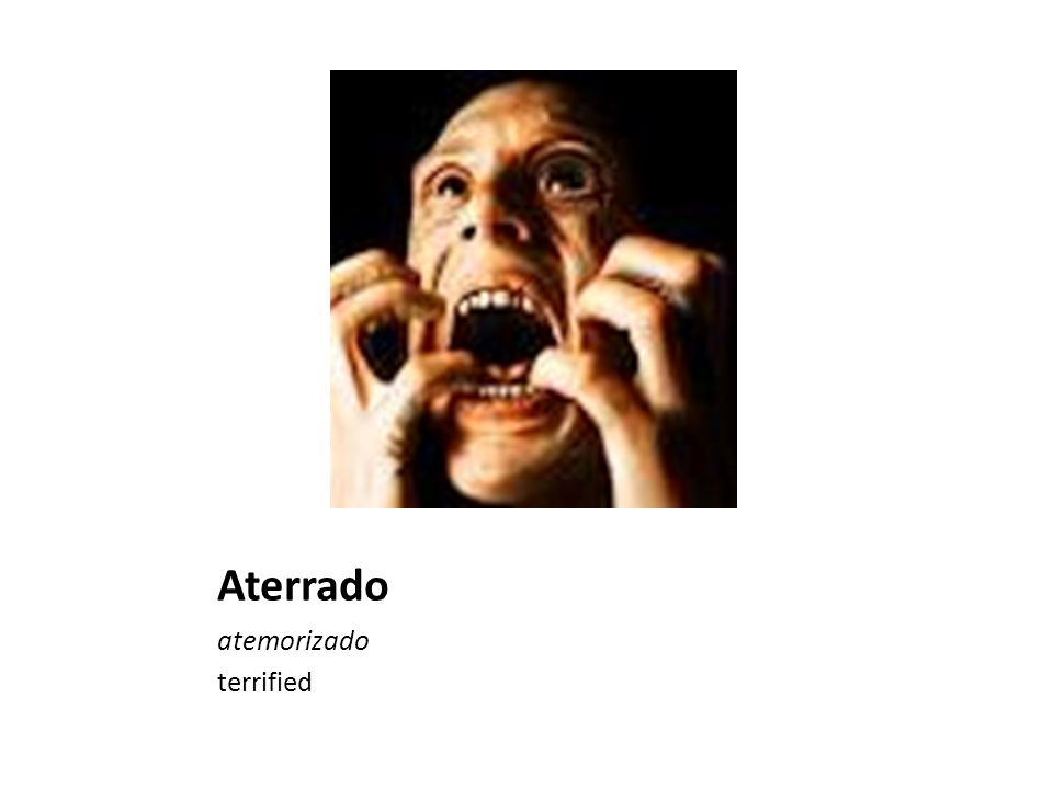Aterrado atemorizado terrified