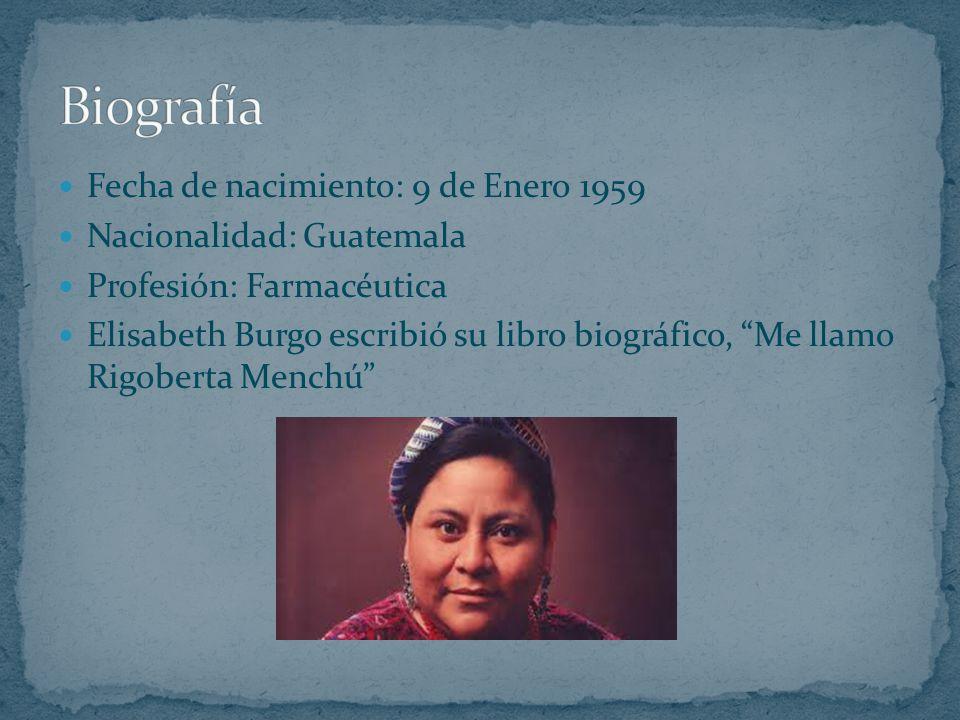 Biografía Fecha de nacimiento: 9 de Enero 1959 Nacionalidad: Guatemala
