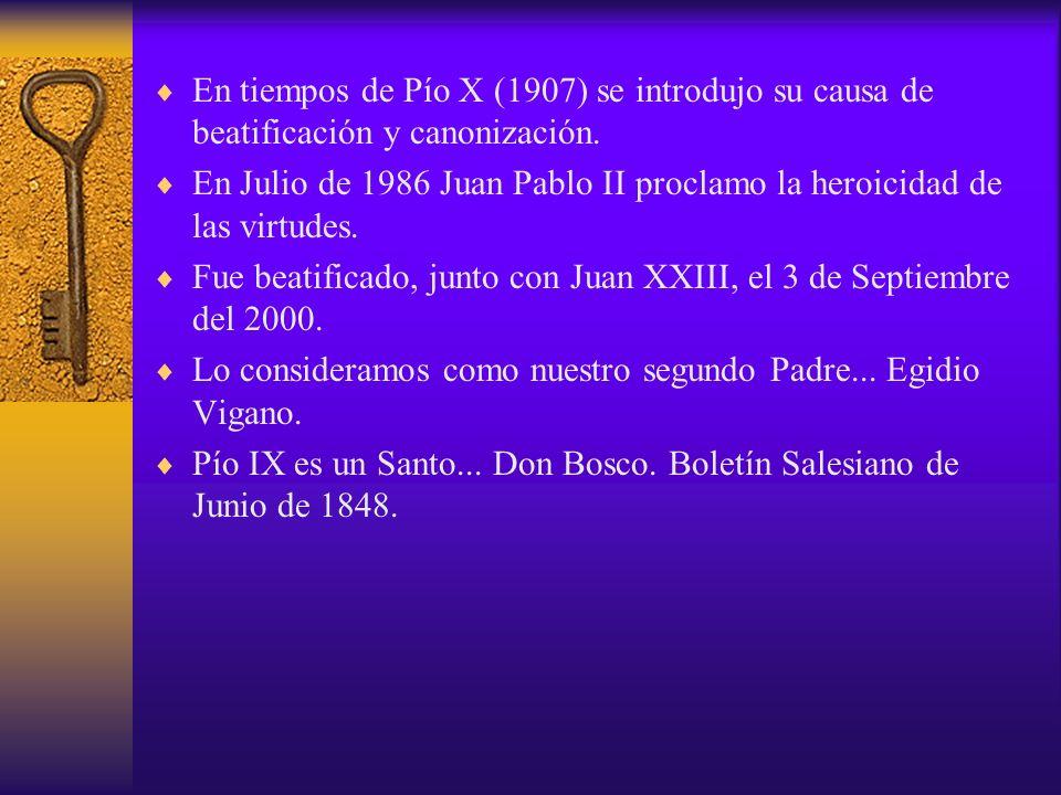 En tiempos de Pío X (1907) se introdujo su causa de beatificación y canonización.