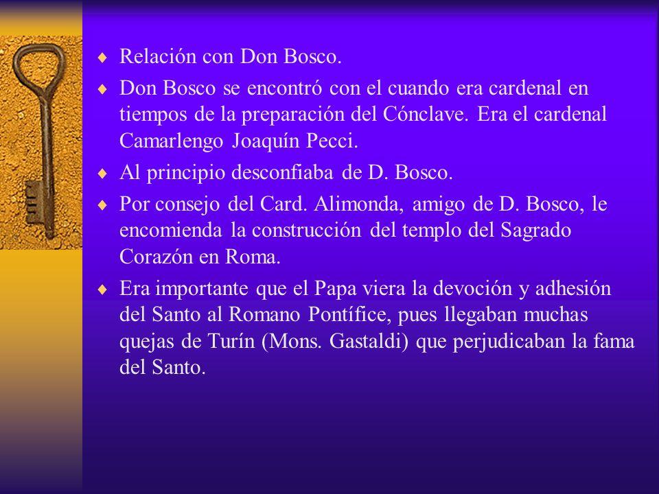 Relación con Don Bosco.