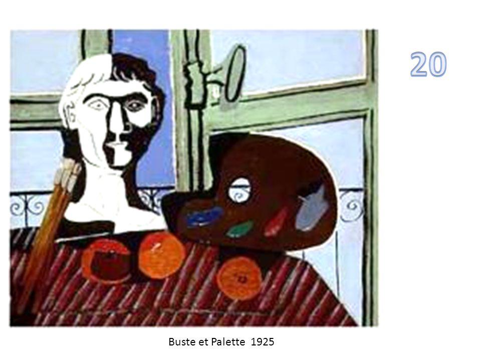 20 Buste et Palette 1925