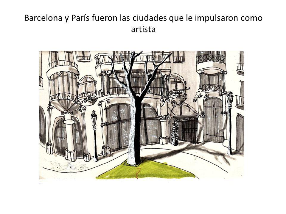 Barcelona y París fueron las ciudades que le impulsaron como artista