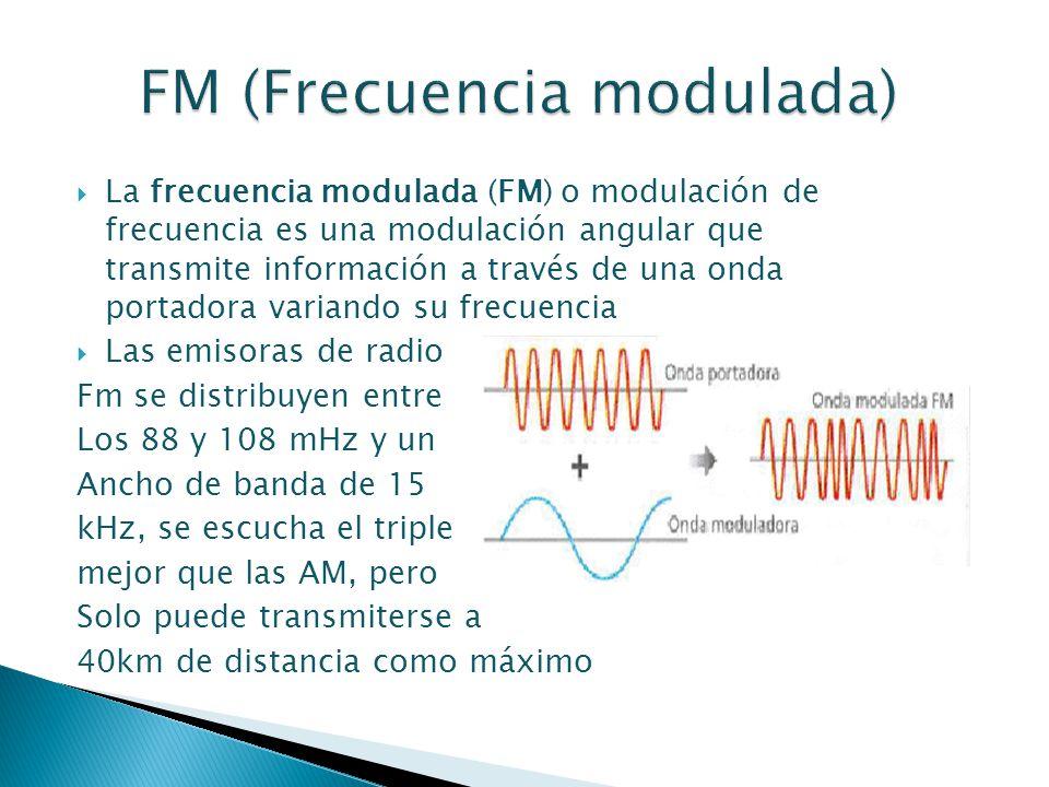 FM (Frecuencia modulada)