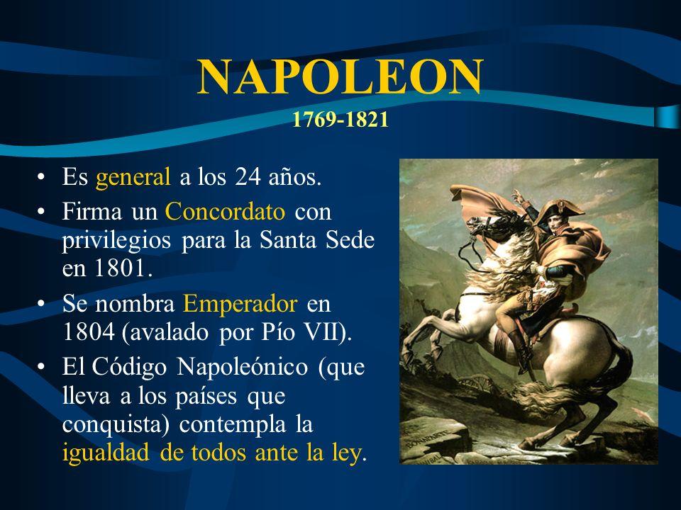 NAPOLEON 1769-1821 Es general a los 24 años.
