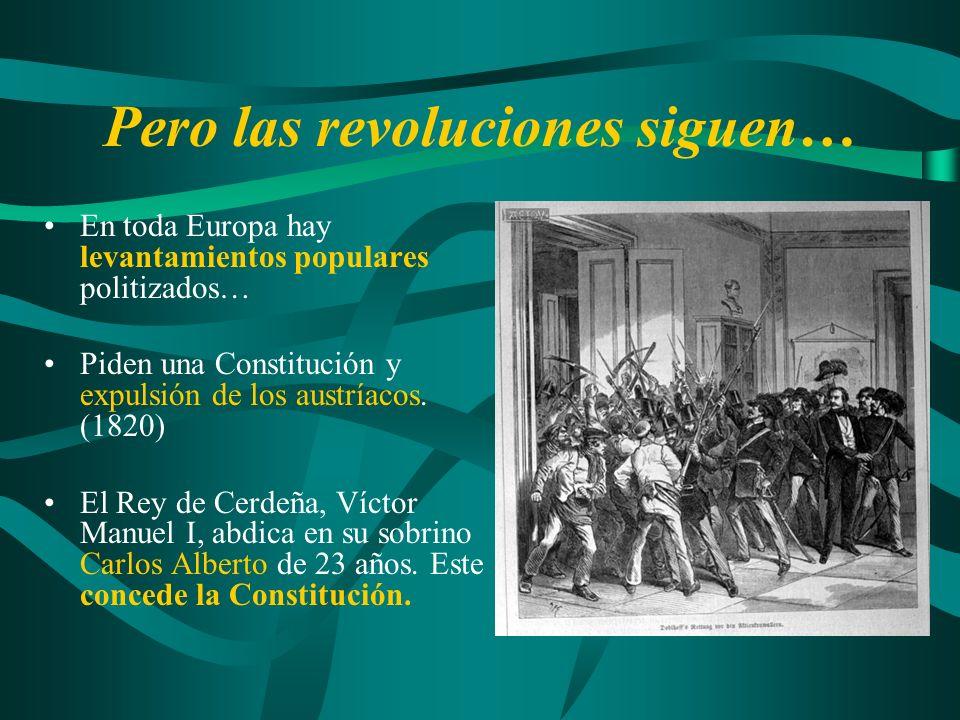 Pero las revoluciones siguen…