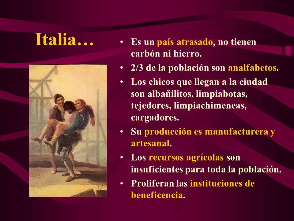 Italia… Es un país atrasado, no tienen carbón ni hierro.