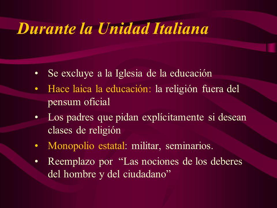 Durante la Unidad Italiana
