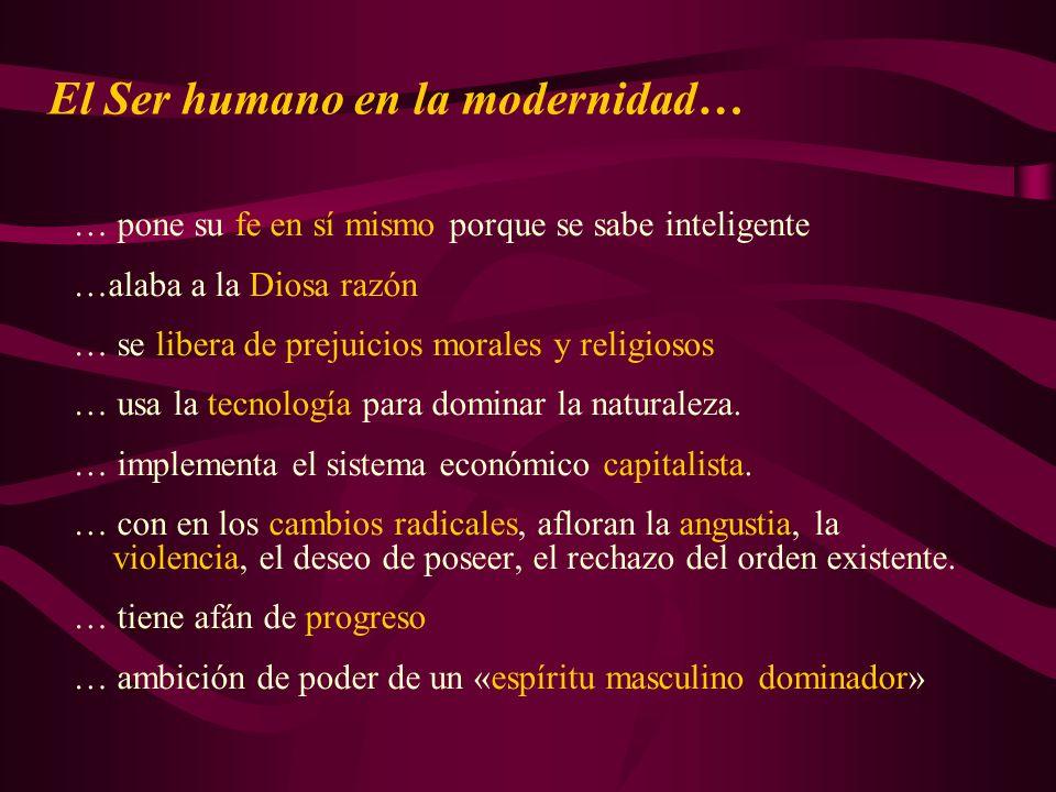 El Ser humano en la modernidad…
