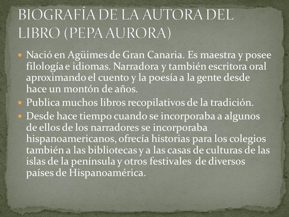 BIOGRAFÍA DE LA AUTORA DEL LIBRO (PEPA AURORA)