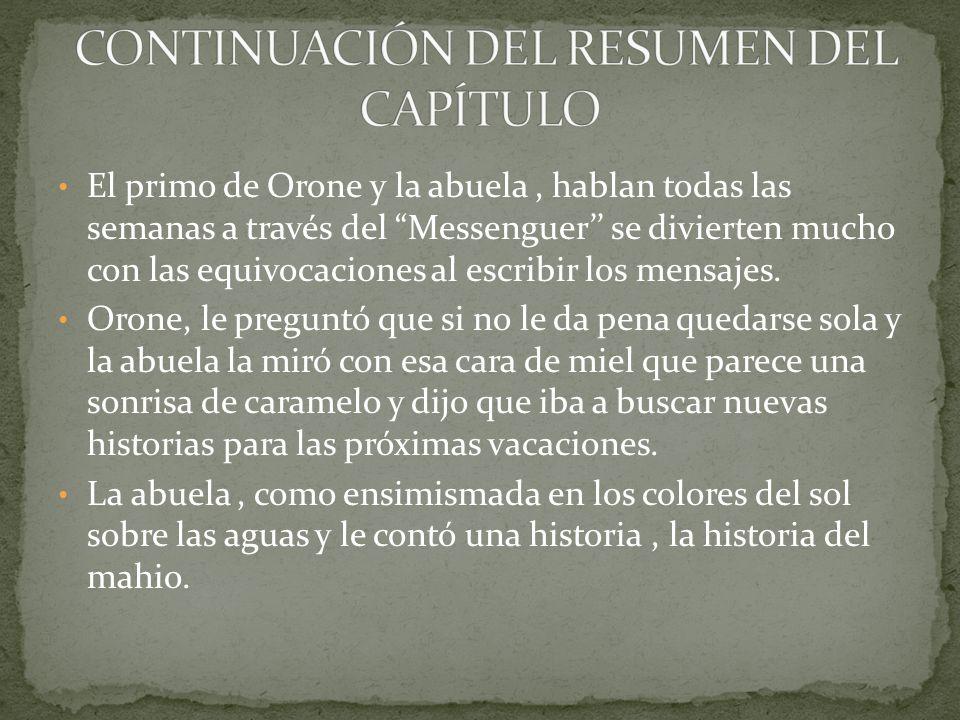 CONTINUACIÓN DEL RESUMEN DEL CAPÍTULO