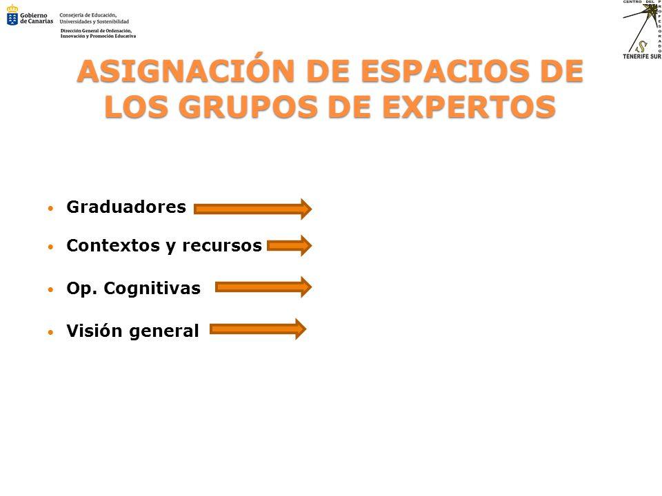 ASIGNACIÓN DE ESPACIOS DE LOS GRUPOS DE EXPERTOS