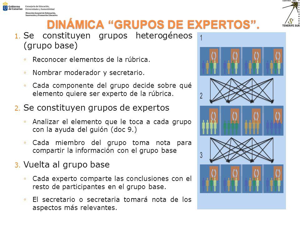DINÁMICA GRUPOS DE EXPERTOS .