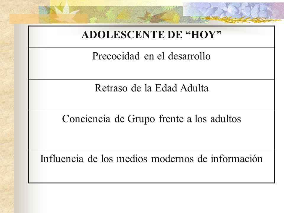 Precocidad en el desarrollo Retraso de la Edad Adulta