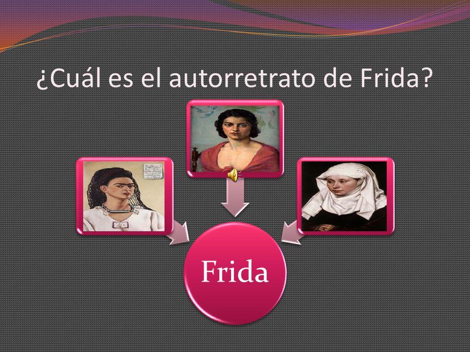 ¿Cuál es el autorretrato de Frida