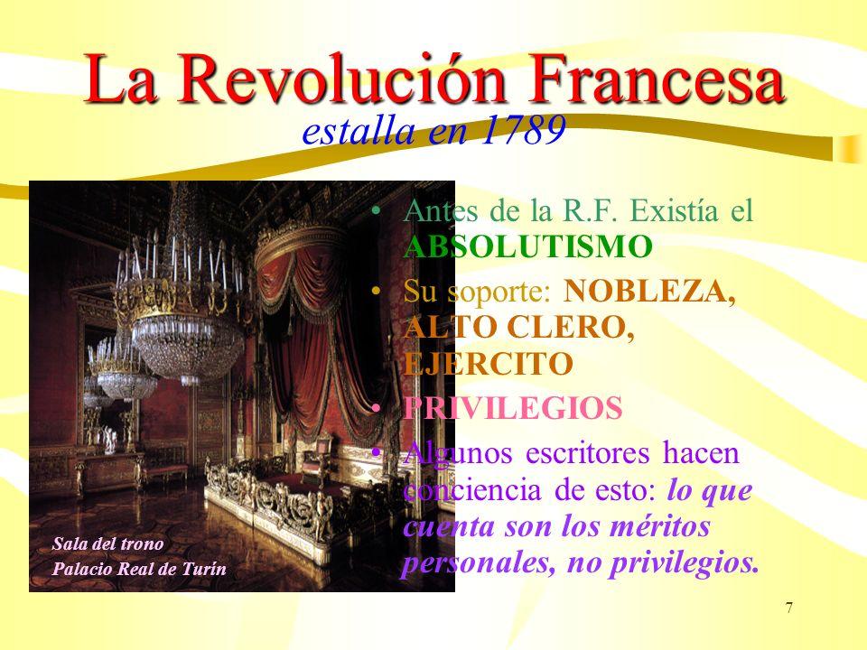 La Revolución Francesa estalla en 1789