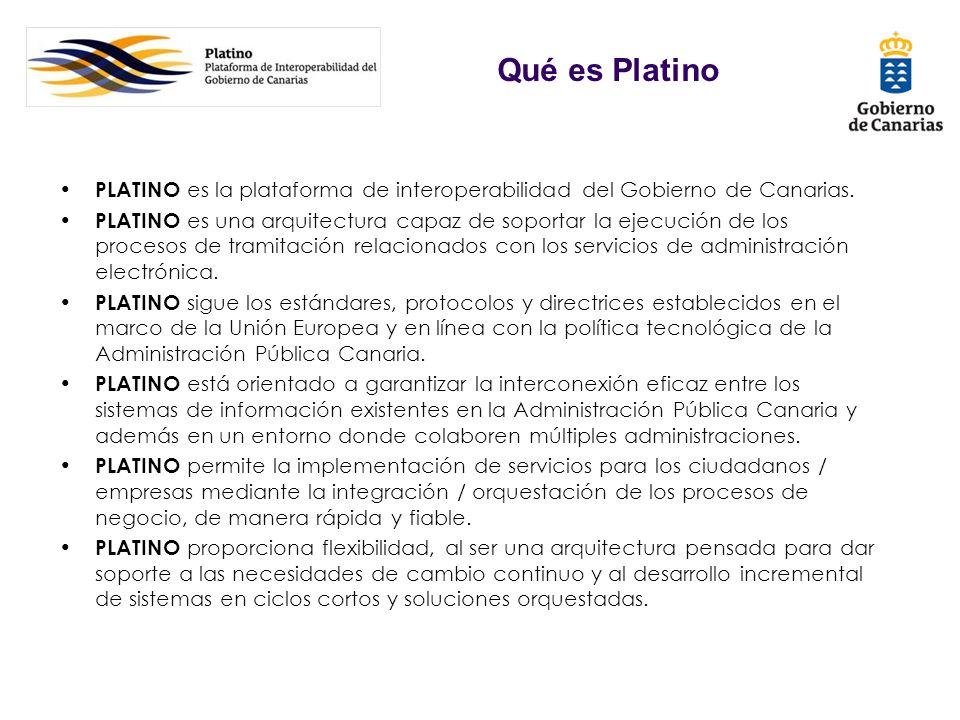 Qué es Platino PLATINO es la plataforma de interoperabilidad del Gobierno de Canarias.