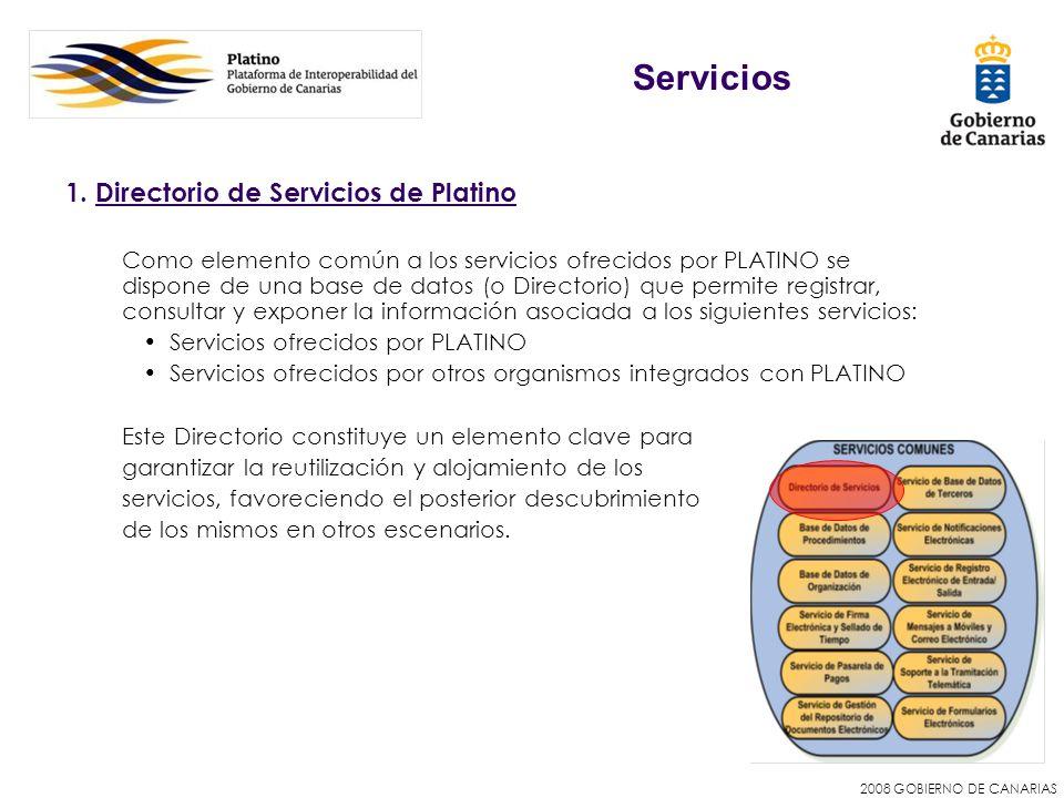 Servicios 1. Directorio de Servicios de Platino
