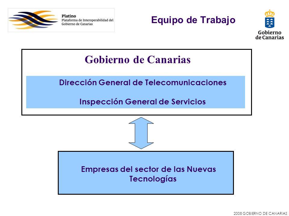 Gobierno de Canarias Equipo de Trabajo
