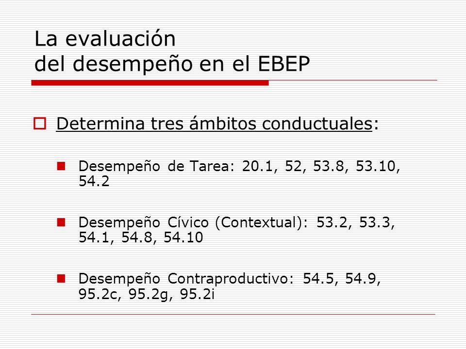 La evaluación del desempeño en el EBEP