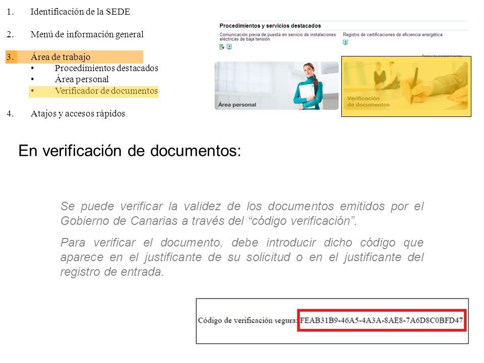 En verificación de documentos: