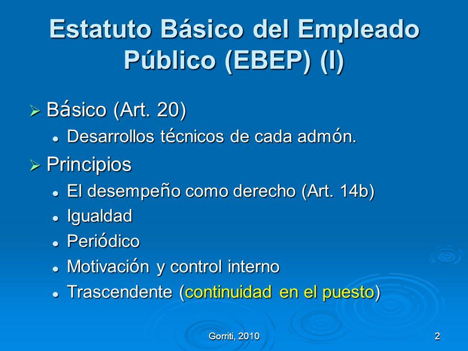 Estatuto Básico del Empleado Público (EBEP) (I)
