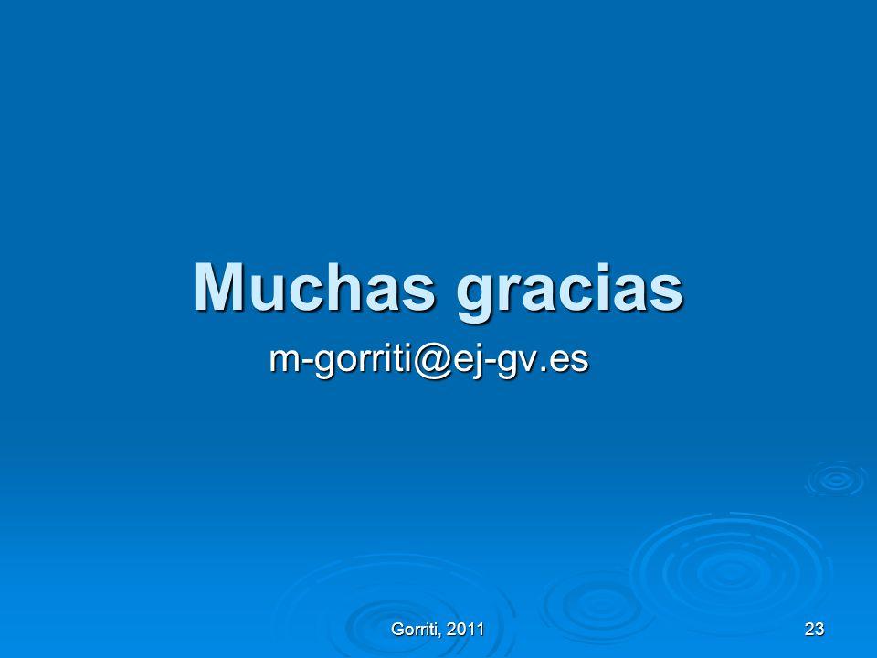 Muchas gracias m-gorriti@ej-gv.es Gorriti, 2011 GIEP, 2011