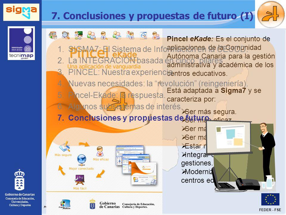 7. Conclusiones y propuestas de futuro (I)