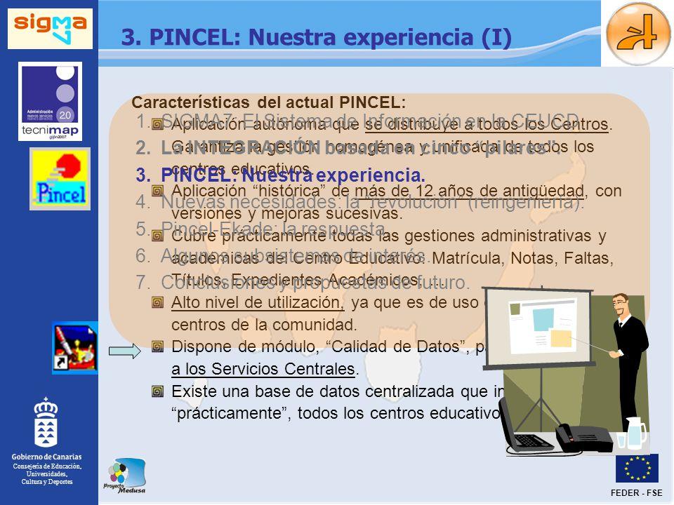 3. PINCEL: Nuestra experiencia (I)