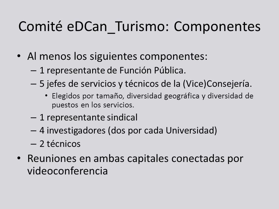 Comité eDCan_Turismo: Componentes