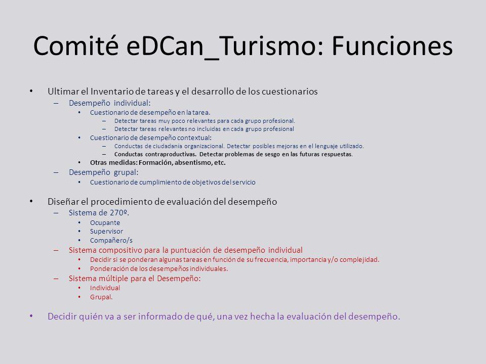 Comité eDCan_Turismo: Funciones