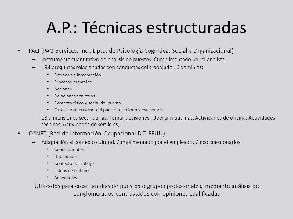 A.P.: Técnicas estructuradas