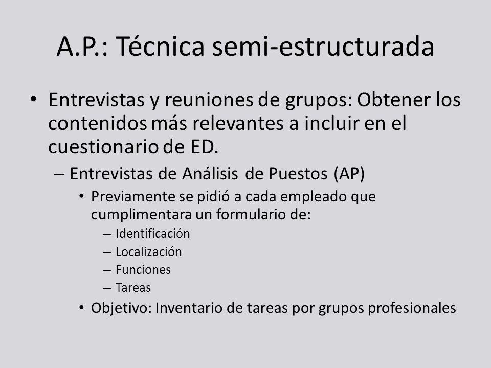 A.P.: Técnica semi-estructurada