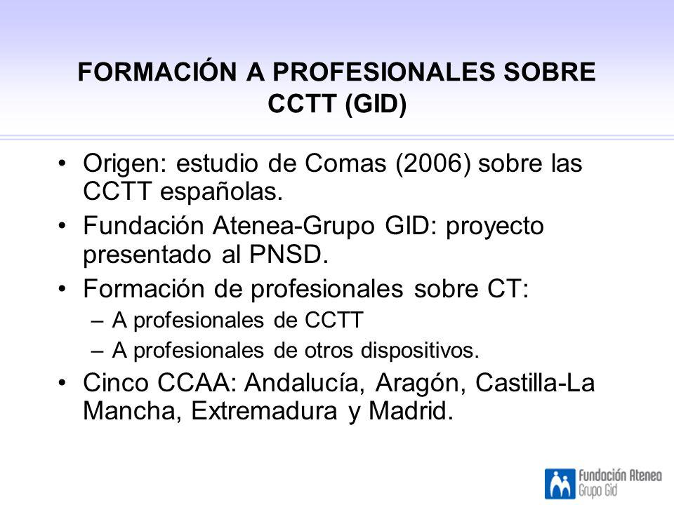 FORMACIÓN A PROFESIONALES SOBRE CCTT (GID)
